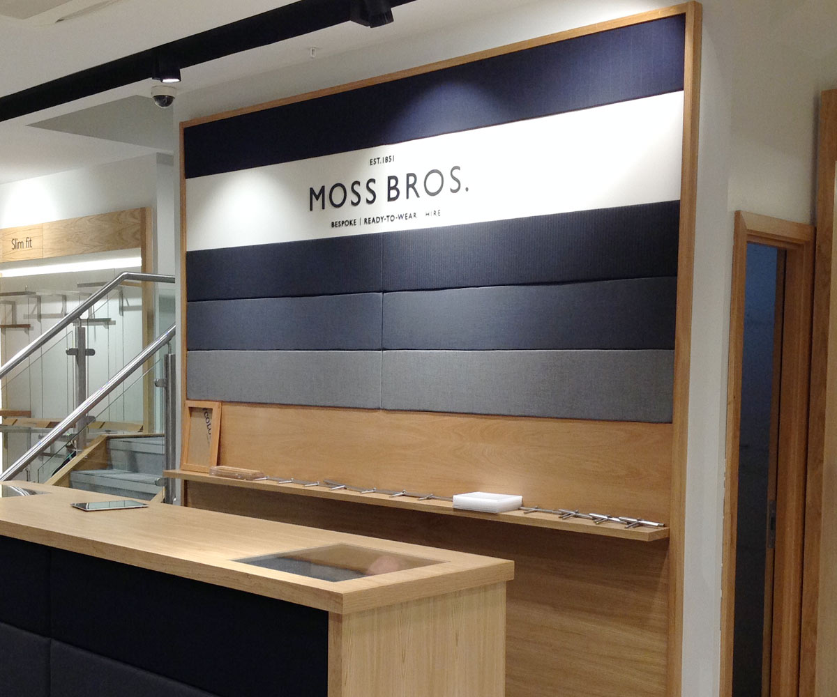 Moss Bros Counter Shop Fit Out