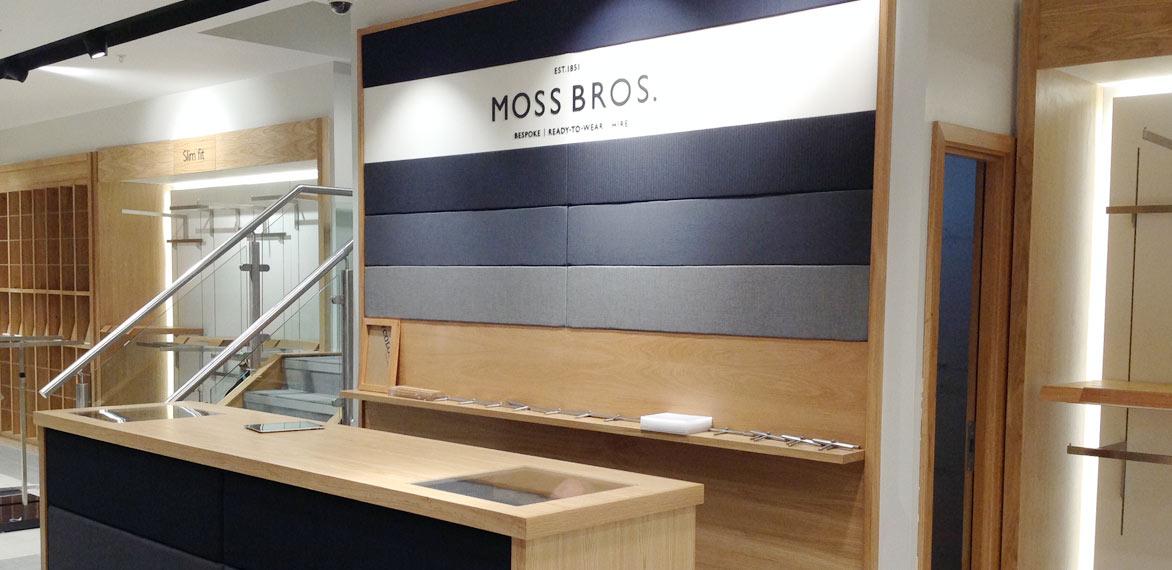 Shopfitting Moss Bros London